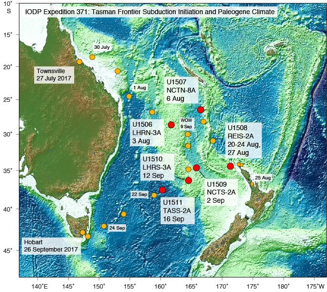 Iodp Jrso Expeditions Tasman Frontier Subduction